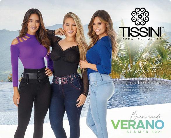 Portada Catálogo Verano textil y zapatos TISSINI 2021 Móvil